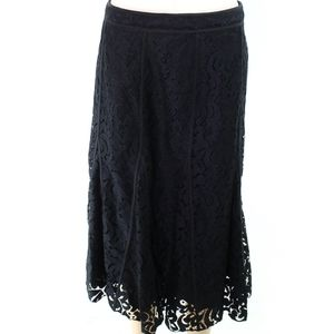 🎉Karl Lagerfeld Lace Overlay A- Line Black Skirt